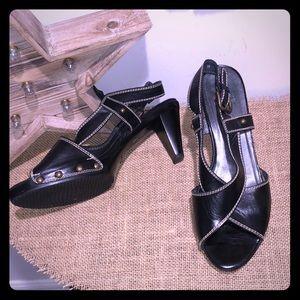 Stuart Weitzman Black Clog Sandal 9M